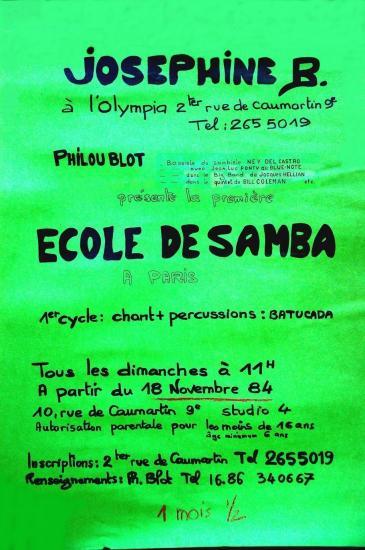 Affiche ecole de samba