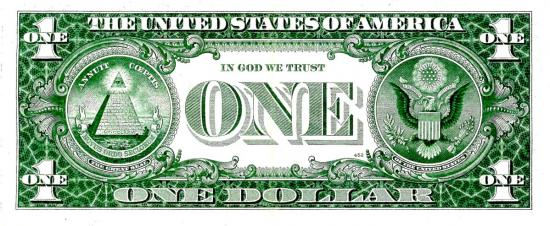 Dollar us in good we trust 50