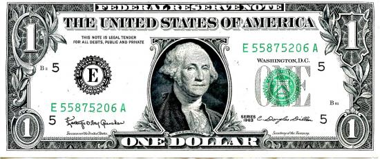 Dollar us washinton 50