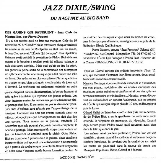 Jazz dixie sxing 2000